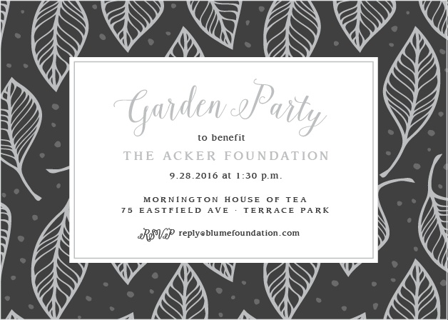 A fun leaf pattern accents your text on the Leafy Party Foil Celebration Invitations.