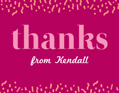 Thank everyone who helped make your sweet sixteen special with the Confetti Fun Sweet Sixteen Thank You Cards.