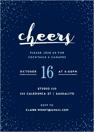 Send out invites as chic as your event with the Glittery Gala Party Invitations.