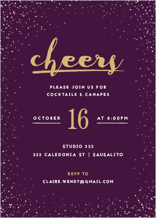 Send out invites as chic as your event with the Glittery Gala Foil Party Invitations.