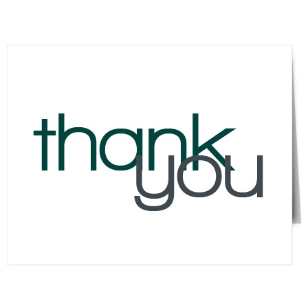 If you are looking for a breath taking modern thank you card, The Perfect Ending will fit the bill.