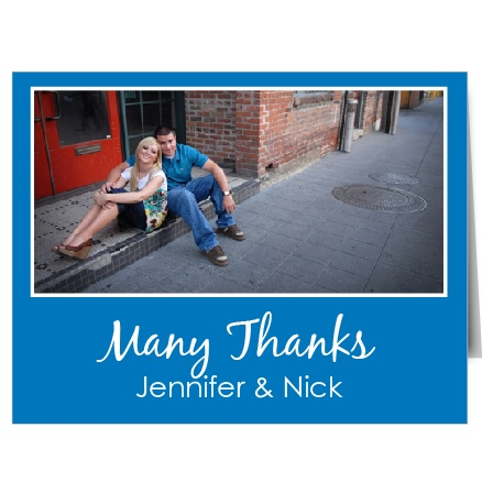 Here's a bold thank you card that remains simple and graceful. The Perfect Match excels in expressing your love and gratitude in a graceful and understated way.