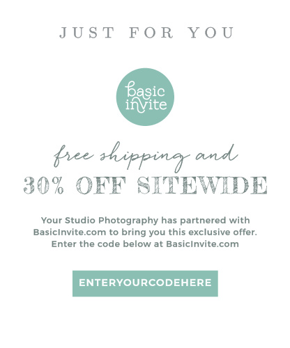 Share your Basic Invite partner code with clients using the Garden Watercolor Offer Card.