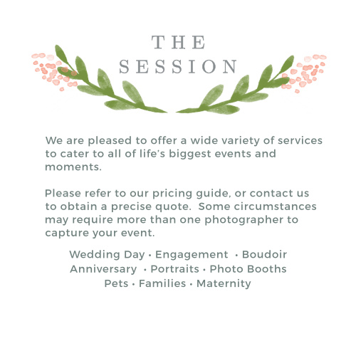 Promote your photography studio with the Garden Watercolor Services Cards.