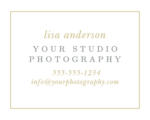 Advertise your photography studio with the Destination Stamp Contact Card.