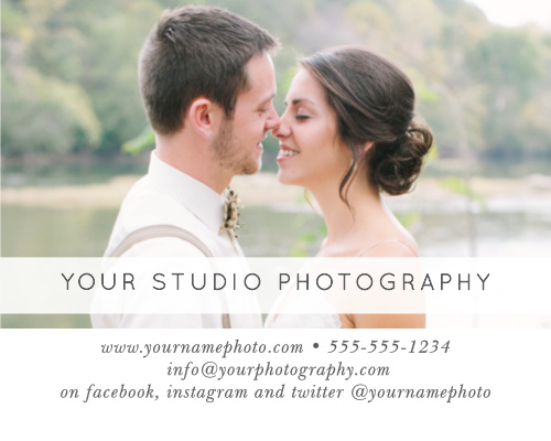 Advertise your photography studio with the Modern Collage Contact Card.