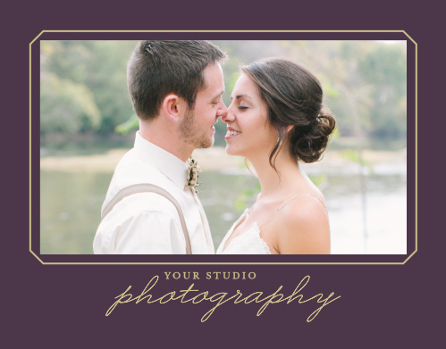 Introduce potential clients to your photography studio with the Vintage Photo Album Promotion Mini Fold.