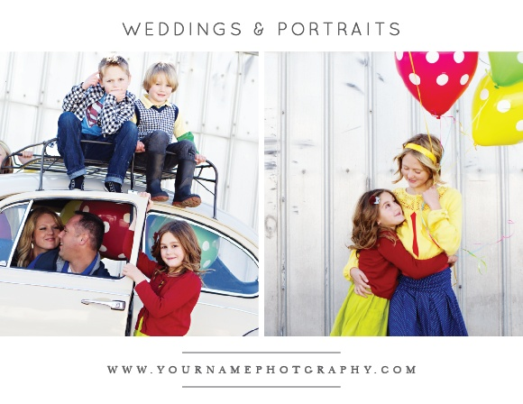 Extend special offers to clients with the Modern Family Promotion Card.