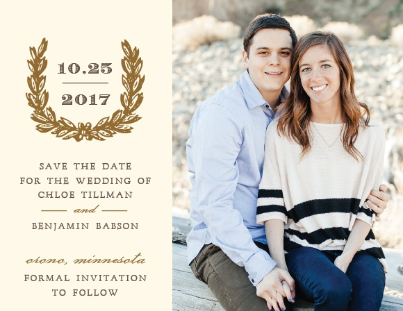 Charming Woods Save-the-Date Cards