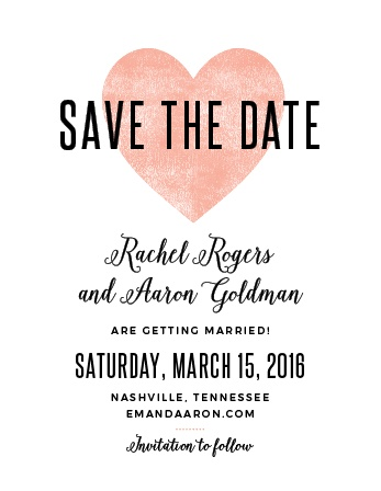 Heart In Hand Save-the-Date Cards