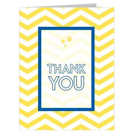 The Tropical Dream adds a little bit of tropical vibe to your thank you card with its palm tree and bright colors. The ombré overlay adds the stylish special touch that sets this card apart from the crowd.