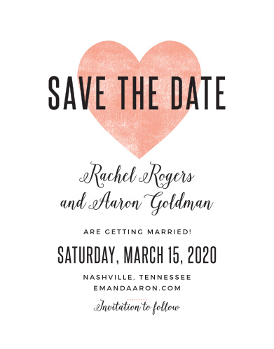 Create stylish announcements for your wedding with the Heart In Hand Save-the-Date Magnets.