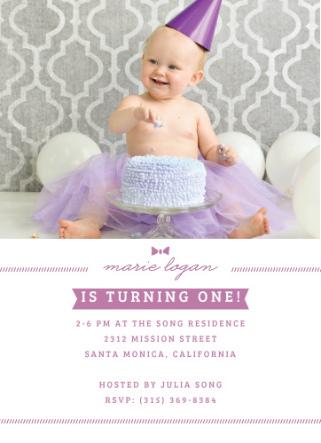 First Birthday Invitations | 40% Off Super Cute Designs - Basic Invite