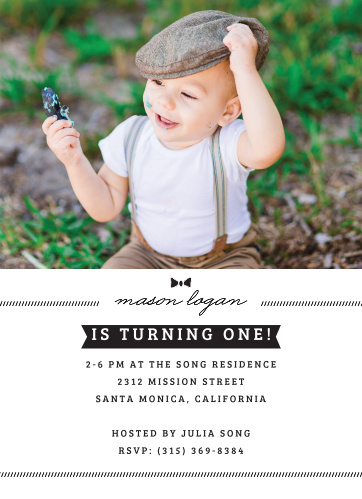 Invite friends and family to a classy get-together for your baby boy with the Little Guy First Birthday Invitations from the Love Vs Design Collection at Basic Invite.