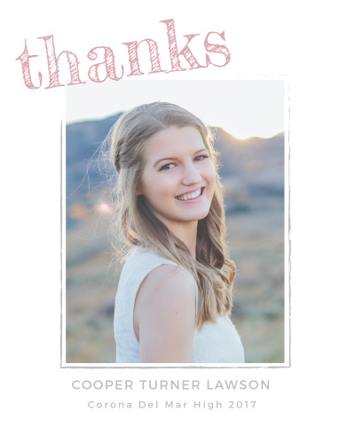 """Say """"Thanks"""" with the cute calligraphy script of the Marker Script Thank You Cards."""