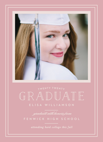Announce your graduation with the sophistication of the Traditional Frame Graduation Announcements.