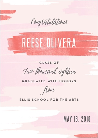 Brush Girl Graduation Announcements