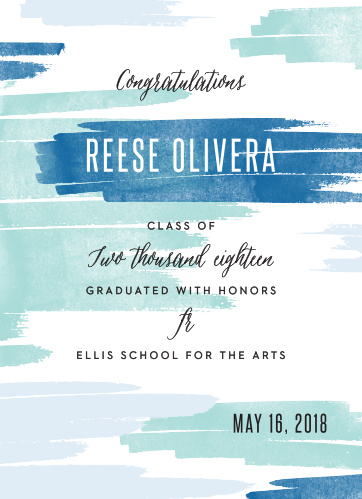 Announce your upcoming graduation ceremony with the artistic style of the Brush Boy Graduation Announcements.