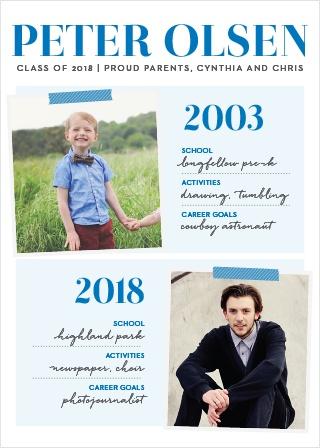 Status Report Boy Graduation Announcements