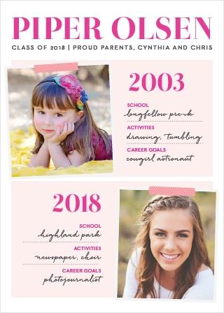 Status Report Girl Graduation Announcements