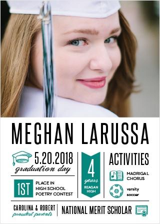 Achievement Infographics Graduation Announcements