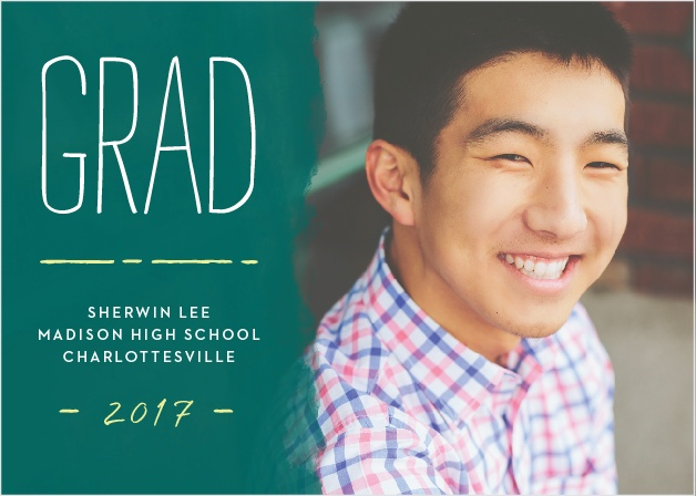 Announce your upcoming ceremony with the laid-back style of the School Board Graduation Announcements.