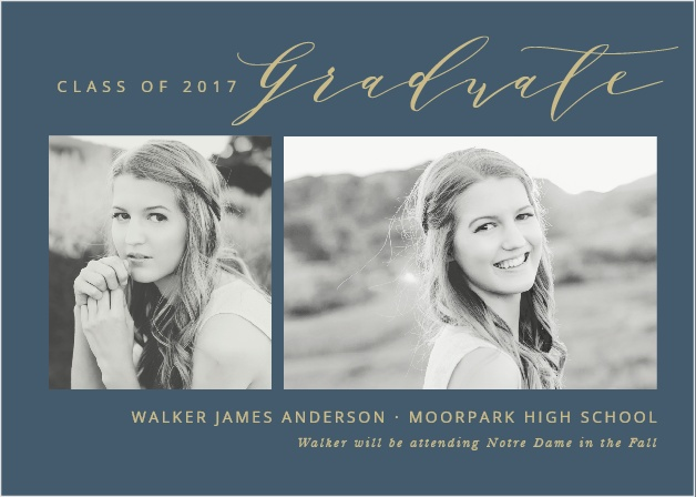 Modern Calligraphy Graduation Announcements