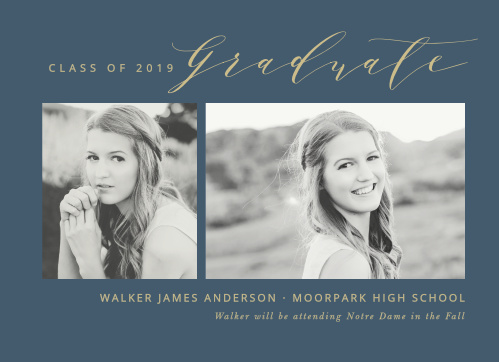 Send announcements with the contemporary sophistication of the Modern Calligraphy Graduation Announcements