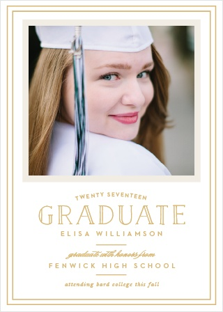 Announce your graduation with the sophistication of the Traditional Frame Foil Graduation Announcements.