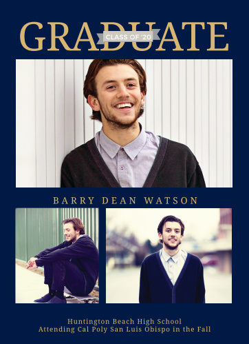 Add your personal touch to the Banner Grad Foil Graduation Announcements.