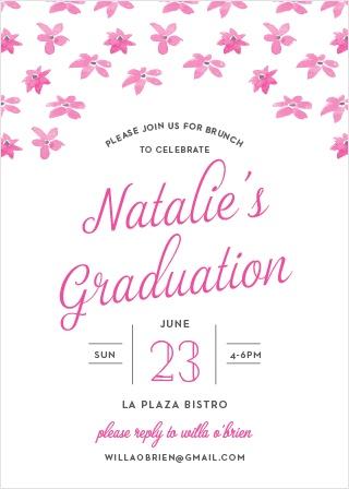 Brunch Bouquet Graduation Invitations