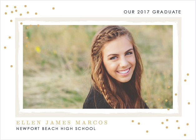 Announce your upcoming wedding ceremony with the Glittering Graduate Foil Graduation Announcements.