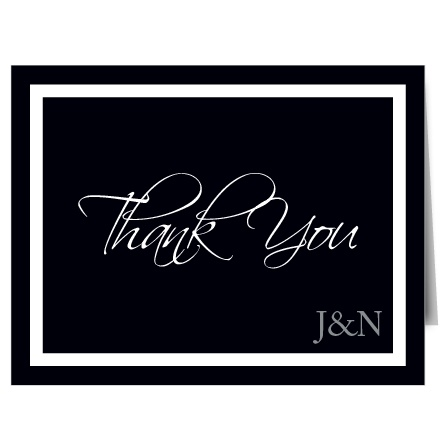 Understated and graceful, the Timeless Classic brings a stylish look to your thank you cards. The simplicity and absolute elegance of this art deco style thank you card emphasizes the message of your gratitude.