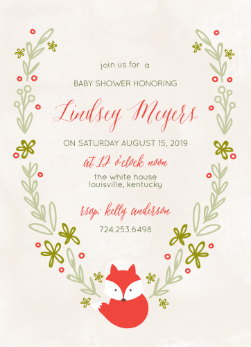 Baby shower invitations 40 off super cute designs basic invite baby fox baby shower invitations filmwisefo
