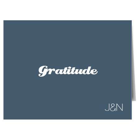 Sometimes less is more, and that is definitely true with the beautiful Sweetly Framed thank you card from Basic Invite. The clean minimalism of this invite ensures that nothing gets in the way of your message of gratitude.