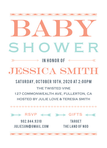 Prep the mother-to-be for the arrival of her little free spirit with the Wild Child Baby Shower Invitations.