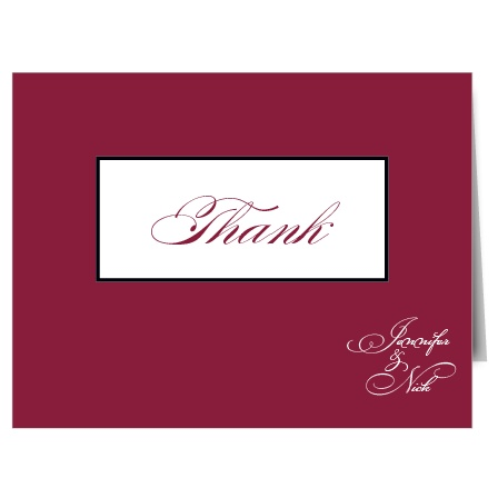 The Simply Formal is a thank you card of merit. It is understatedly beautiful!