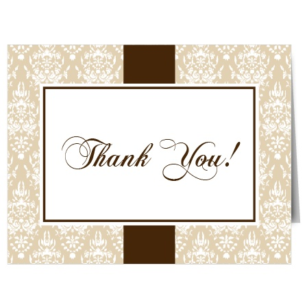 Thank you has never been so classy with the Vintage Classic thank you card!
