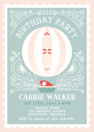 Frilly Fairgrounds First Birthday Invitations