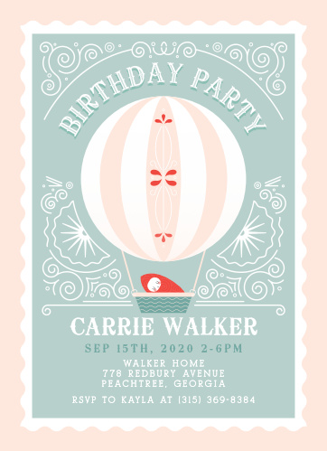 Create whimsical invites with a touch of vintage using the Frilly Fairgrounds Birthday Invitations.