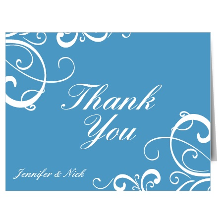 The Simple Swirls thank you card is perfect for a fun thank you card.