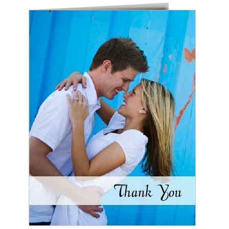 Ready to show off your new wedding photos on one of these thank you cards?