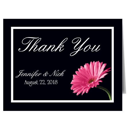 Gerber daisies are the perfect way to say thank you with the Elegant Gerber Daisy thank you card!