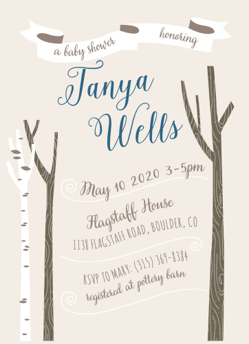 Design the perfect invites for the nature-loving mother-to-be with the Windy Day Baby Shower Invitations.