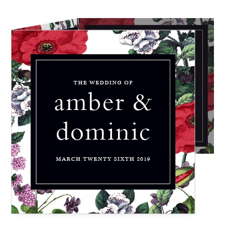 Create beautiful invitations featuring Victorian-style florals with the Vintage Botanical Storybook Wedding Invitations.