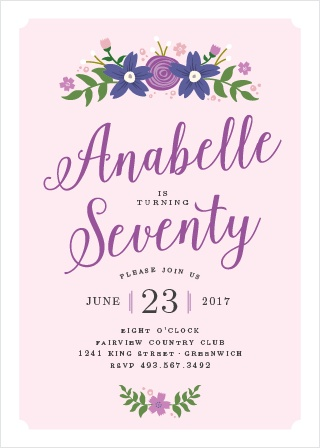 Country Club Birthday Invitations