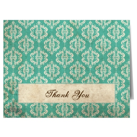 The Old World Vintage thank you card will be as timeless as your wedding!
