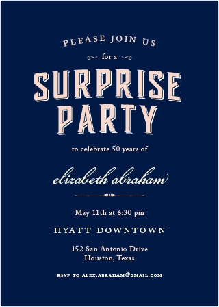 Spectacular Surprise Party Invitations
