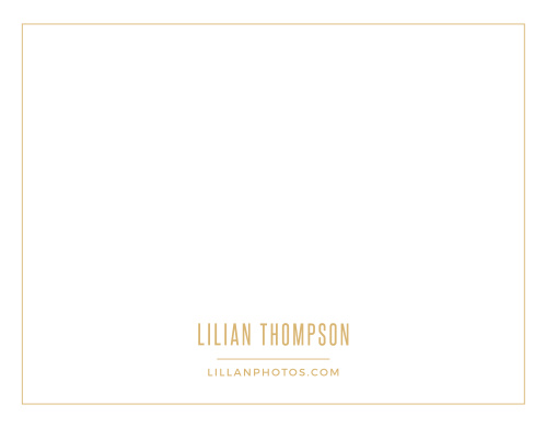Create your clean, sophisticated letterhead with the Simple Photo Foil Business Stationery.