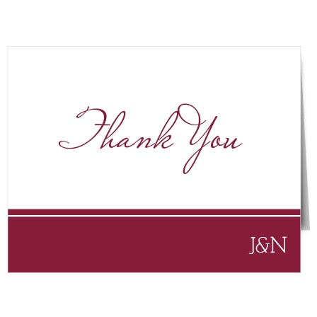 If you are looking for a thank you that is classic yet modern, the Traditionally Formal thank you card may be the winner!